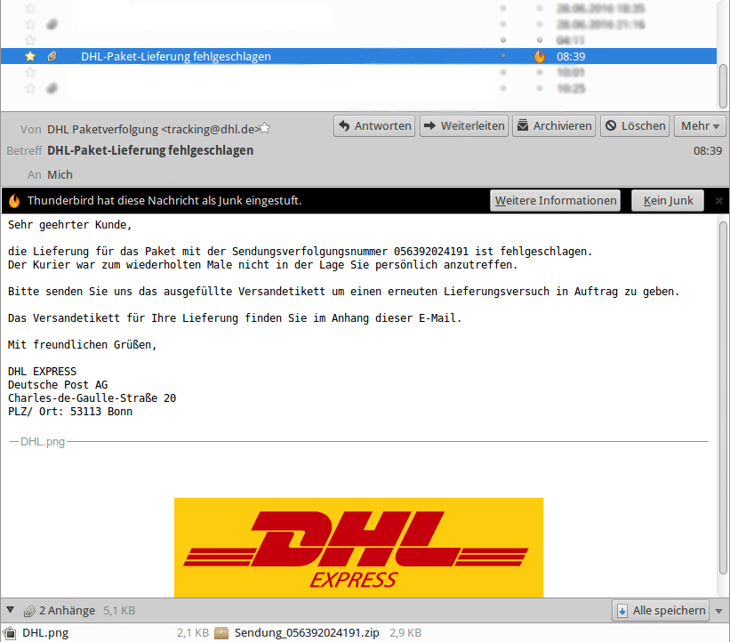 dhl tracking de dhl sendungsverfolgung wieder gef lschte. Black Bedroom Furniture Sets. Home Design Ideas